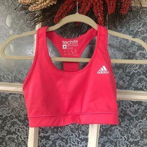 Coral Adidas Climacool Sports Bra